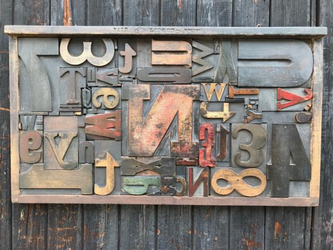 Wood Letter Collage 6
