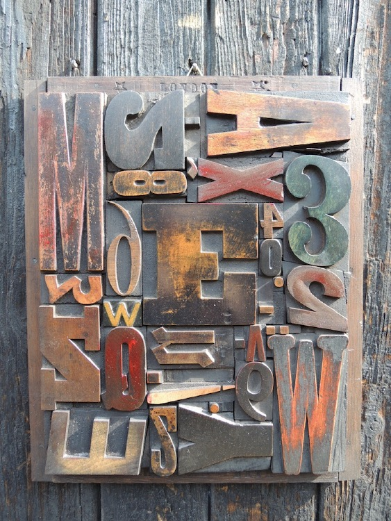 Wood Letter Collage - Size 1