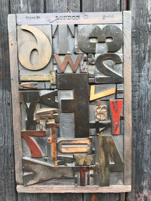 Wood Letter Collage 4