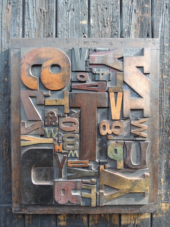 Wood Letter Collage - Size 3
