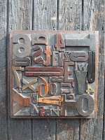 Wood Letter Collage - Size 2